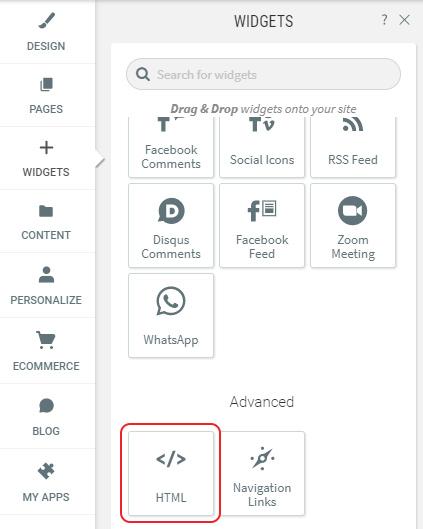 Select HTML widget