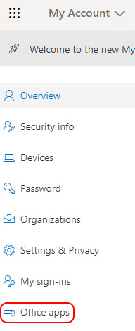 Select Office apps