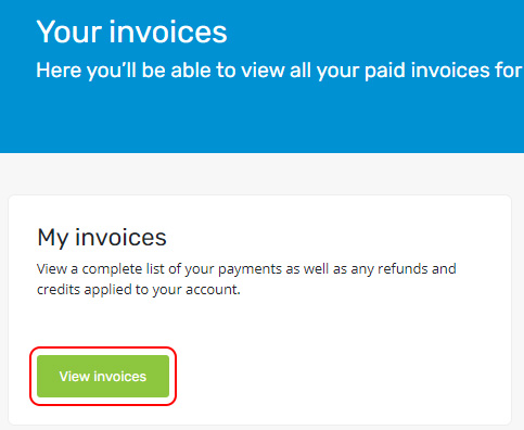 Select View Invoices