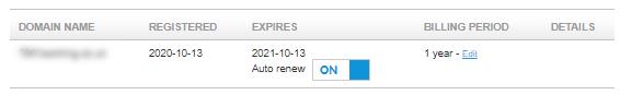 Toggle Auto Renew