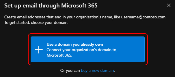 Use a domain you already own
