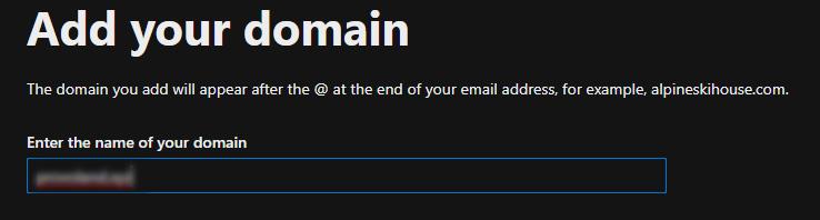 Enter domain