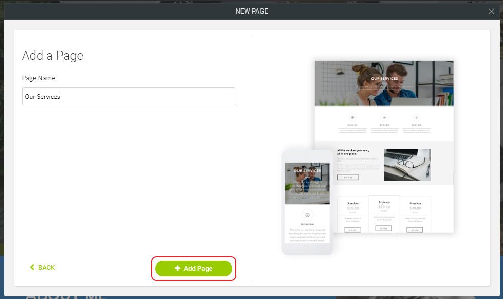 Click Add Page
