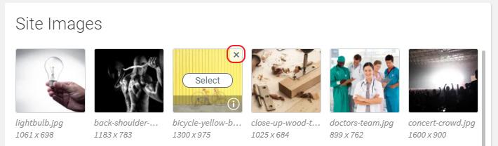 Click X icon