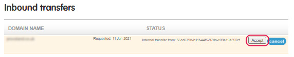 Determine transfer status