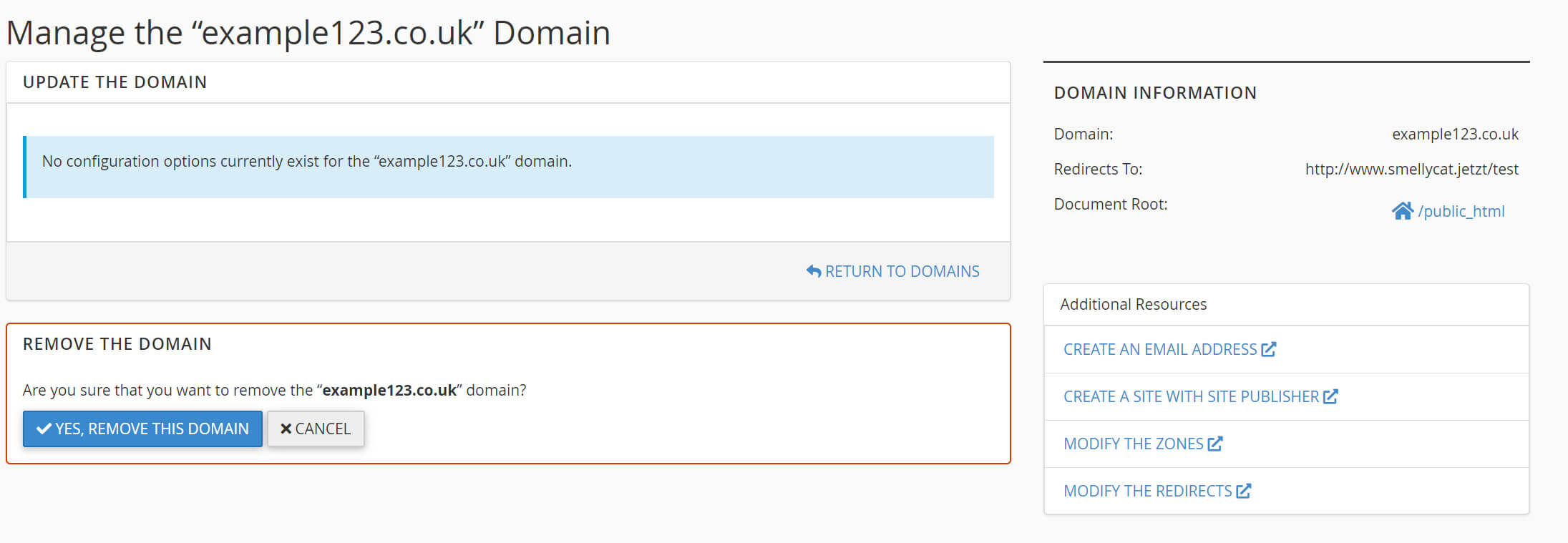 Domain Information