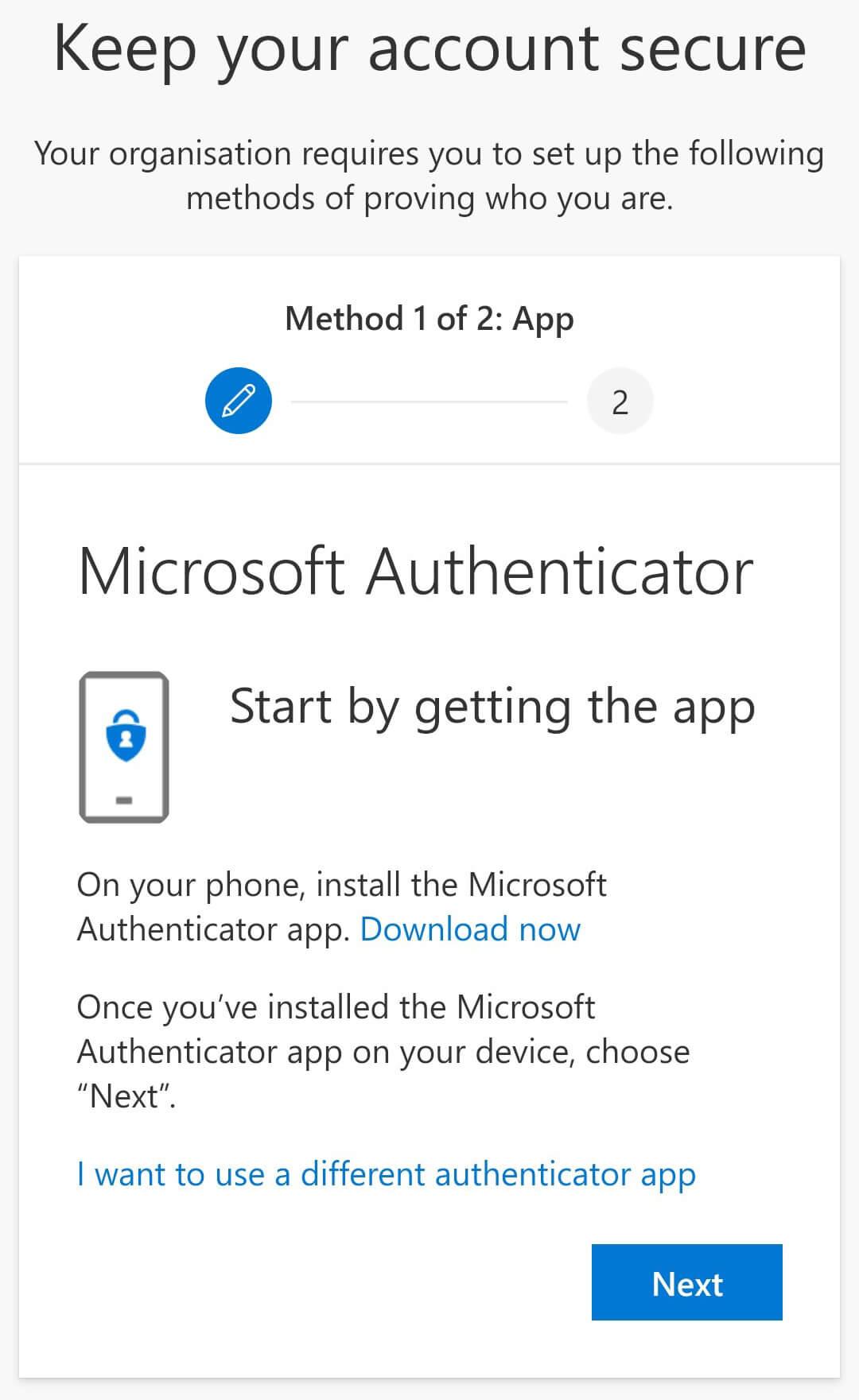 Download Microsoft Authenticator
