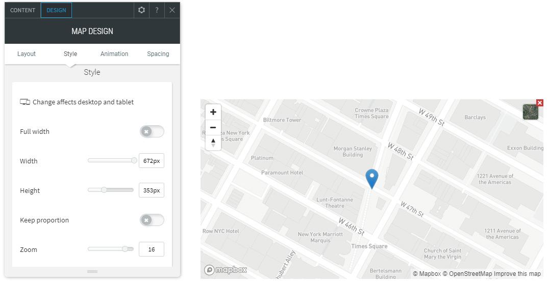 Edit Map size