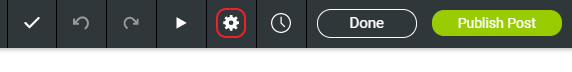 Click Post settings