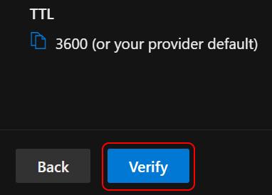 Select Verify