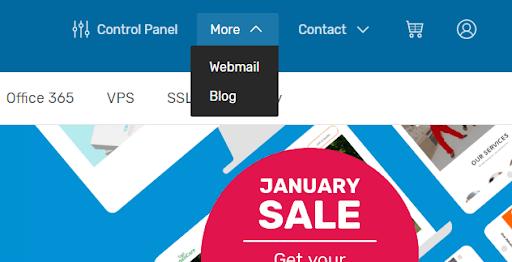 Select 'Webmail'