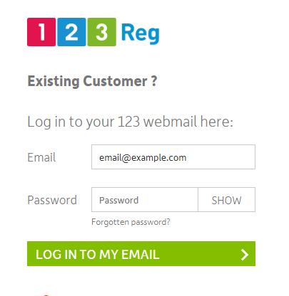 Login to 123 Reg Webmail