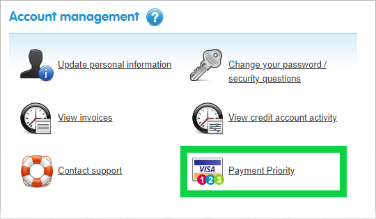 Select 'Payment Priority'