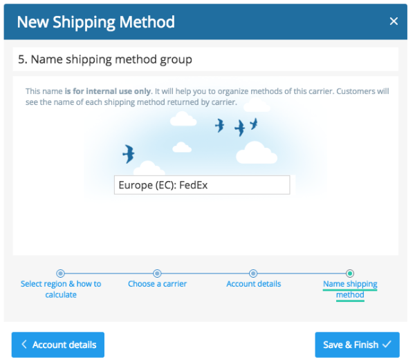 Confirm shipping name