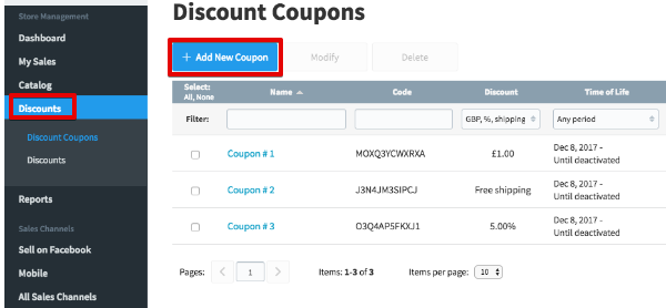 Add new coupon