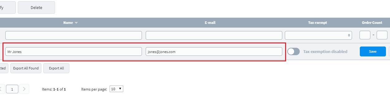Edit your customer details