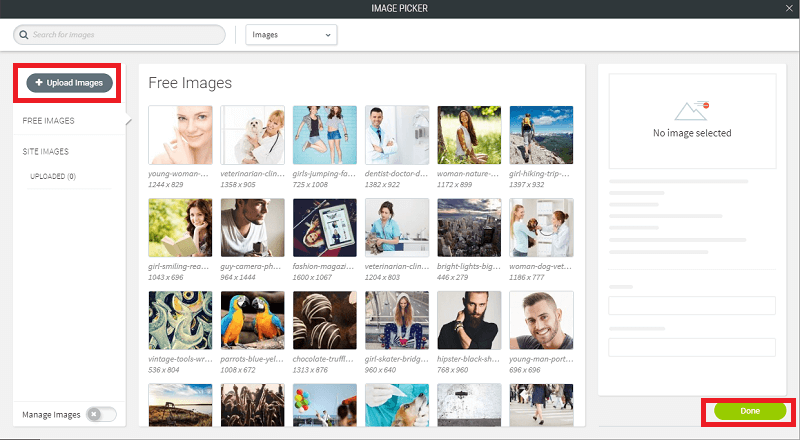 Choose from our huge range of images or upload from your computer
