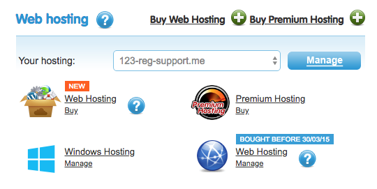 manage your hosting