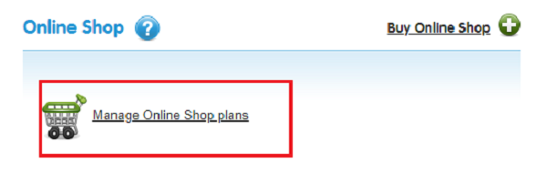 Manage your online shop plan.