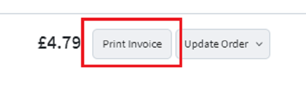 Print an invoice for your customer.