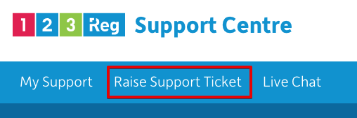 Raise Support Ticket