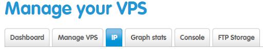 Select the IP tab