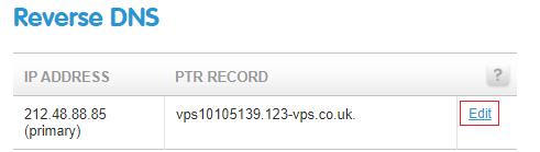 Edit the IP address