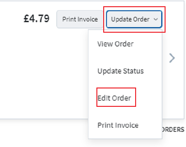 Edit your order options here.