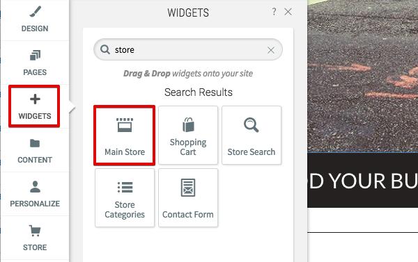 Main store widget