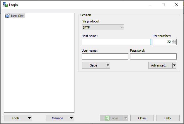 WinSCP FTP-1