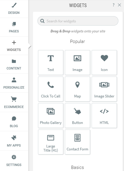 Browse and drag widget