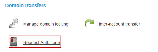 Select Request Authorisation Code