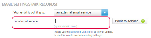 Choose external email service
