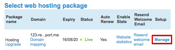 Manage package