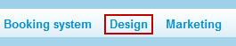 Design toolbar