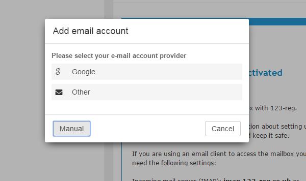 how to add ooter on google mail