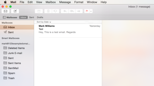 mailbox is now set up