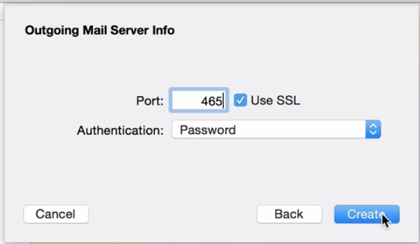 how to set up outgoing mail server