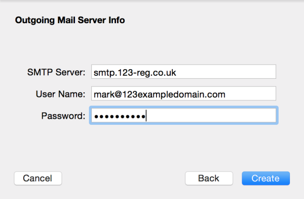 how to change outgoing mail server