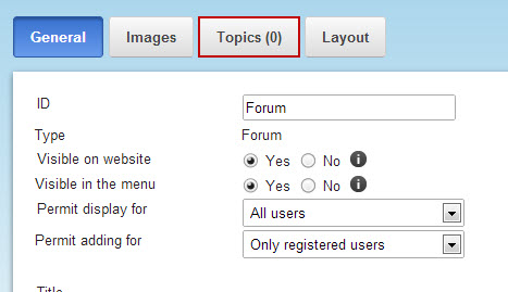 how to add a forum to my website