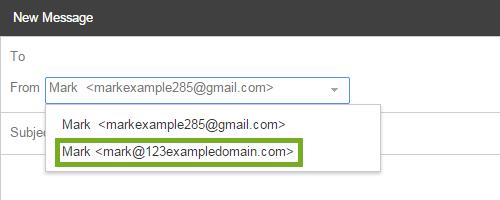 change your sending address