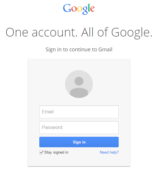 login to gmail account