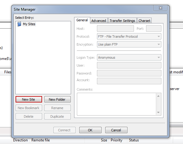 how to take backup using filezilla
