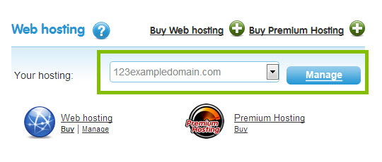 select your domain name and click on the manage button