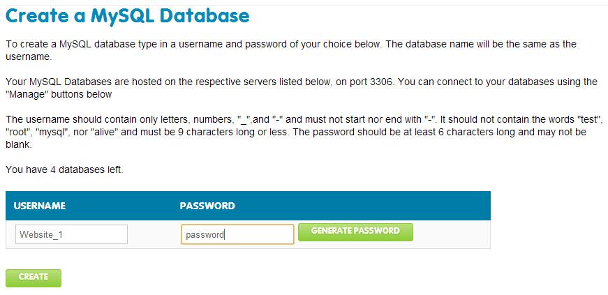 create username