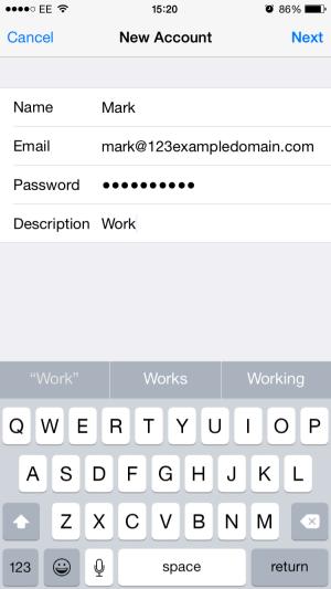 enter your email details