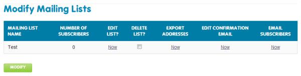 How do I setup a mailing list on my 123 Reg Web Hosting