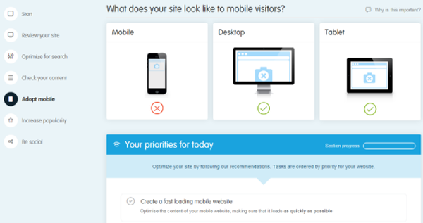 Get a mobile site