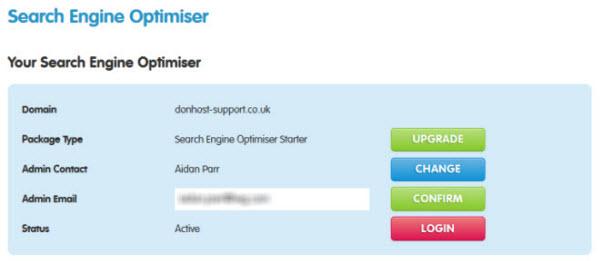 Conform Admin Email change