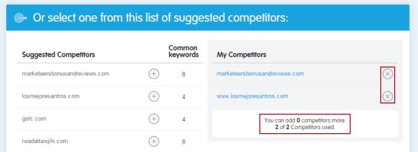 Remove Competitor